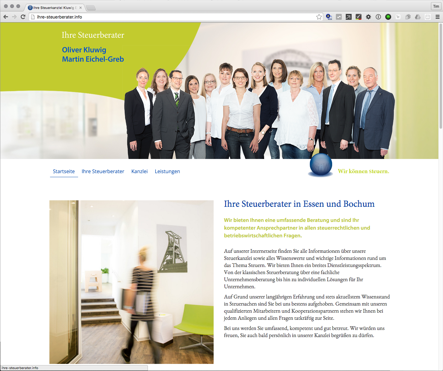 Steuerberater Homepage